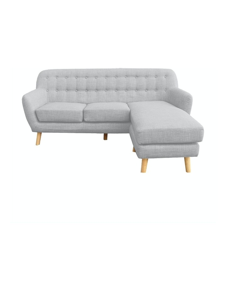 Linen Corner Sofa Couch Lounge L-shaped w/ Chaise Light Grey image 1