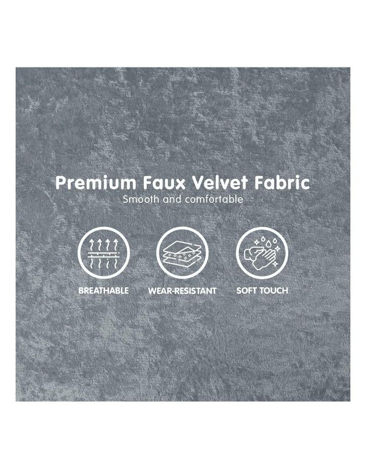 2-Seater Adjustable Sofa Bed Lounge Faux Velvet - Light Grey image 6
