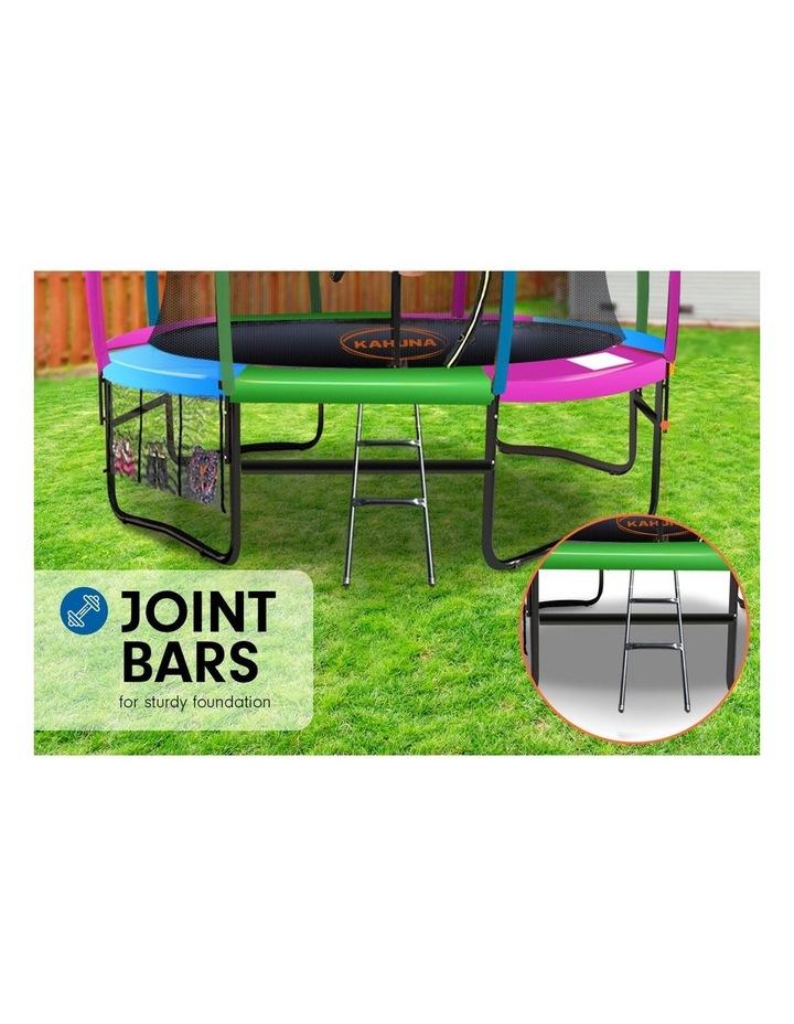 8ft Kahuna Trampoline Safety Net Spring Pad Cover Mat Ladder Free Basketball Set image 6