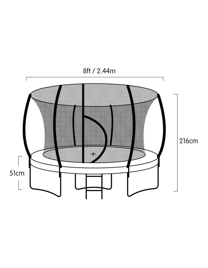 8ft Kahuna Trampoline Safety Net Spring Pad Cover Mat Ladder Free Basketball Set image 7