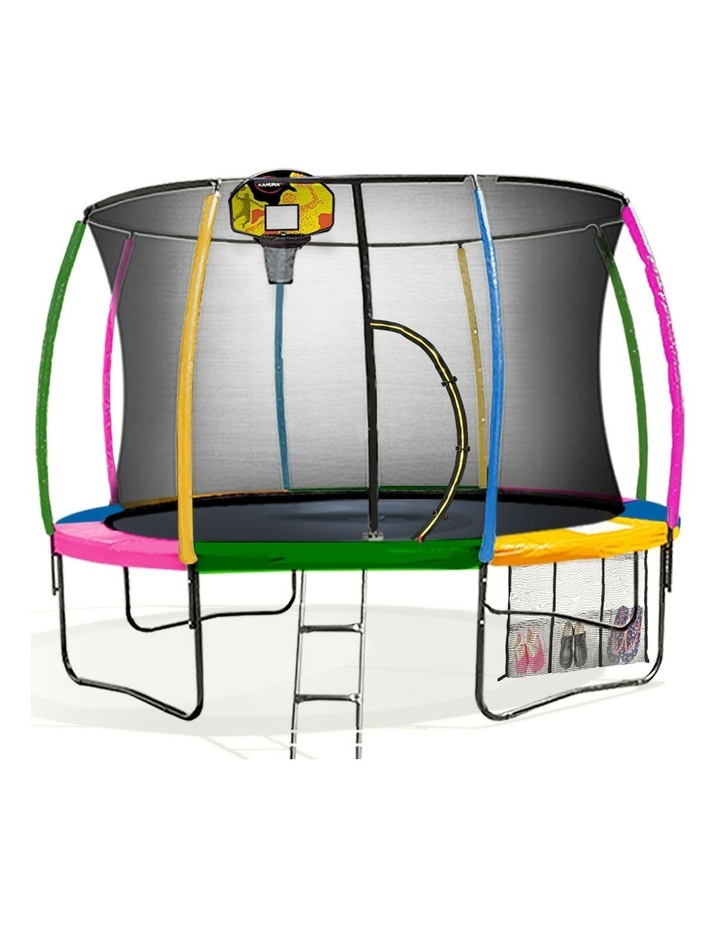 10ft Round Trampoline Safety Net Spring Pad Cover Mat Free Ladder Basketball Set image 1