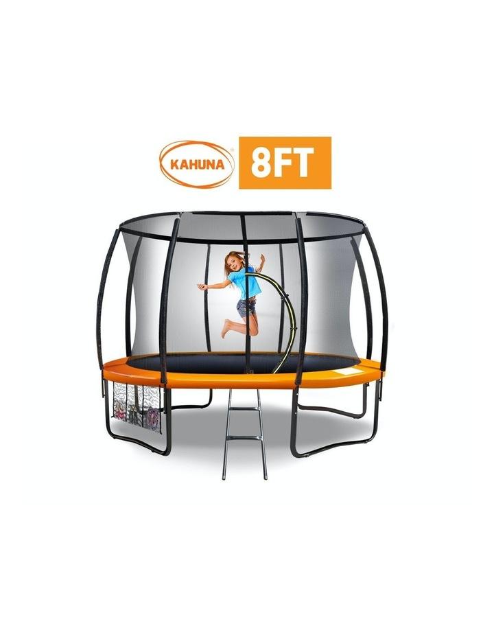 8ft Trampoline Spring Outdoor Free Mat Pad Net Ladder - Orange image 1