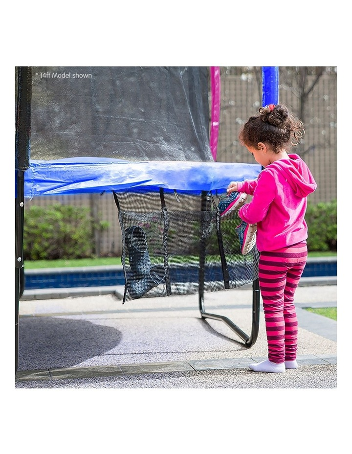 Rainbow 12ft Trampoline With Mat Pad Net Ladder- Rainbow image 3