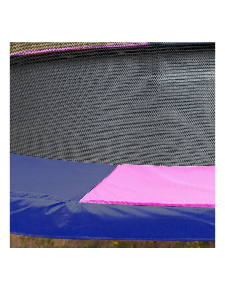 Rainbow 12ft Trampoline With Mat Pad Net Ladder- Rainbow image 4