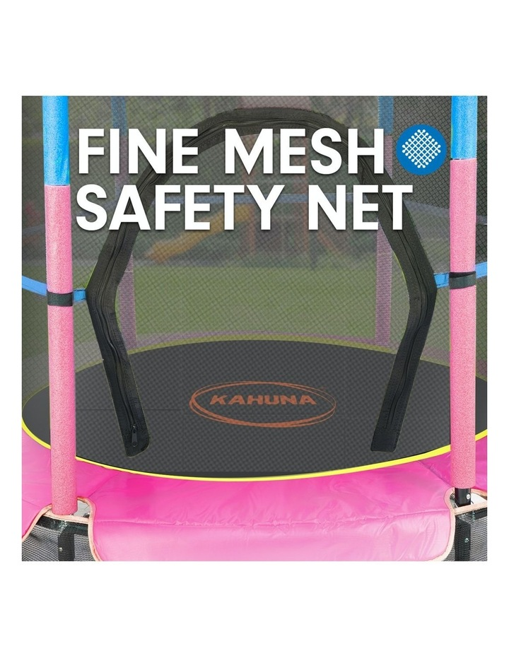 4.5ft Trampoline Round Free Safety Net Spring Pad Cover Mat Outdoor Blue Pink image 4