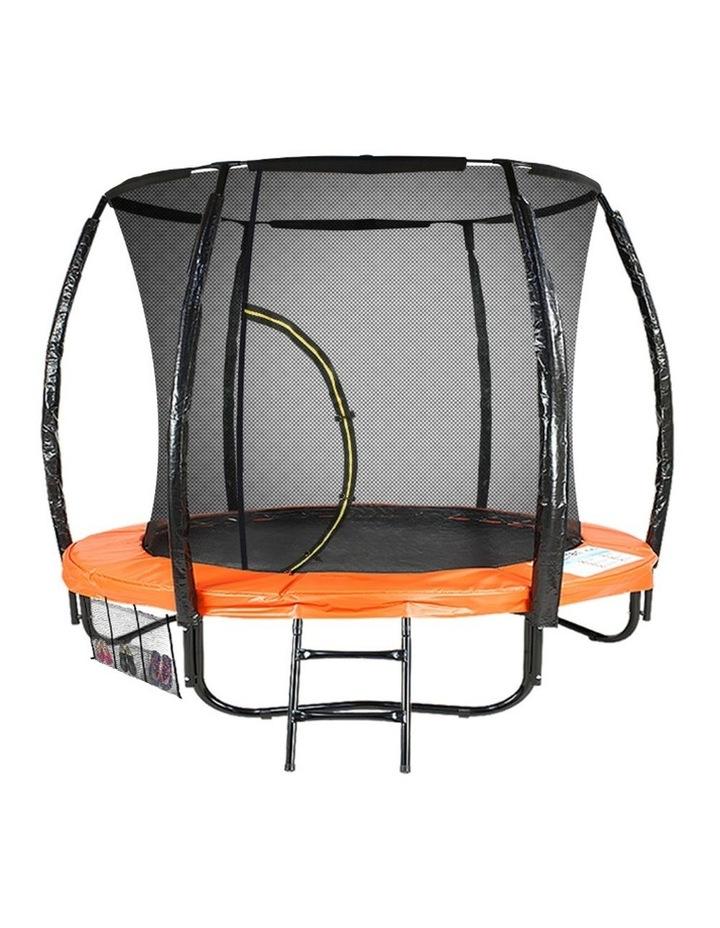 6ft Trampoline Round Free Safety Net Spring Pad Cover Mat Ladder- Orange image 1