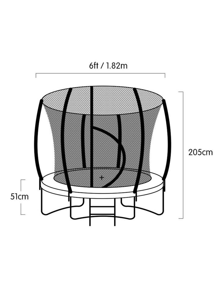 6ft Trampoline Round Free Safety Net Spring Pad Cover Mat Ladder- Orange image 5