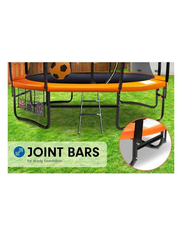 6ft Trampoline Round Free Safety Net Spring Pad Cover Mat Ladder- Orange image 6