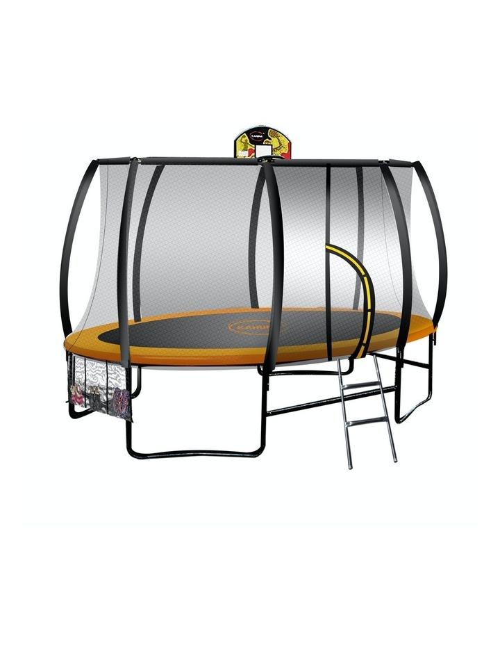 14ft X 8ft Trampoline Free Safety Net Spring Pad Cover Mat Ladder Basketball Set- Orange image 1