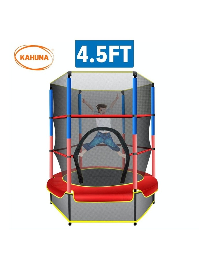 4.5ft Trampoline Round Free Safety Net Spring Pad Cover Mat Outdoor image 1
