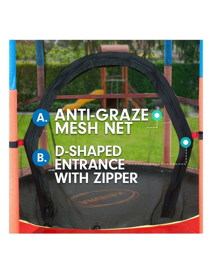 4.5ft Trampoline Round Free Safety Net Spring Pad Cover Mat Outdoor image 5
