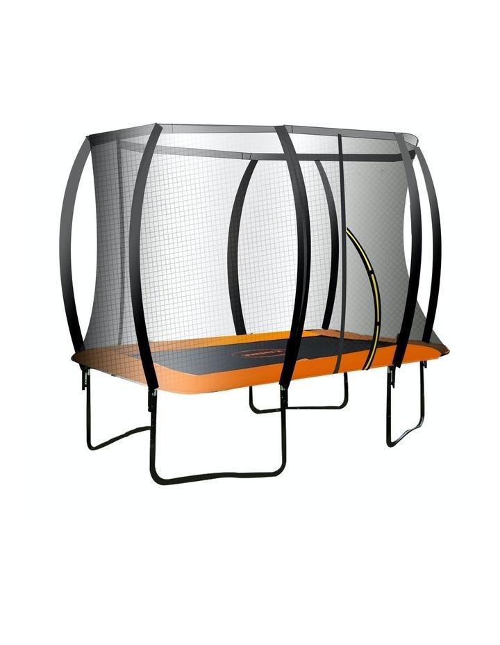 Trampoline 6 Ft X 9 Ft Rectangular Outdoor With Mat Pad Net - Orange image 1
