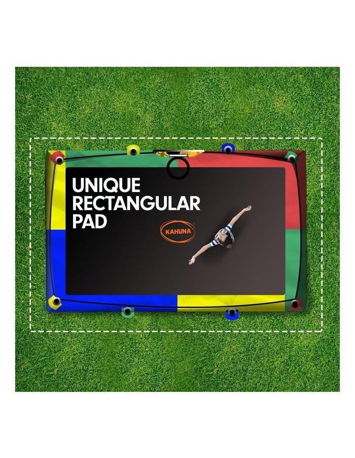 Trampoline 6 Ft X 9 Ft Rectangular Outdoor With Mat Pad Net- Rainbow image 7