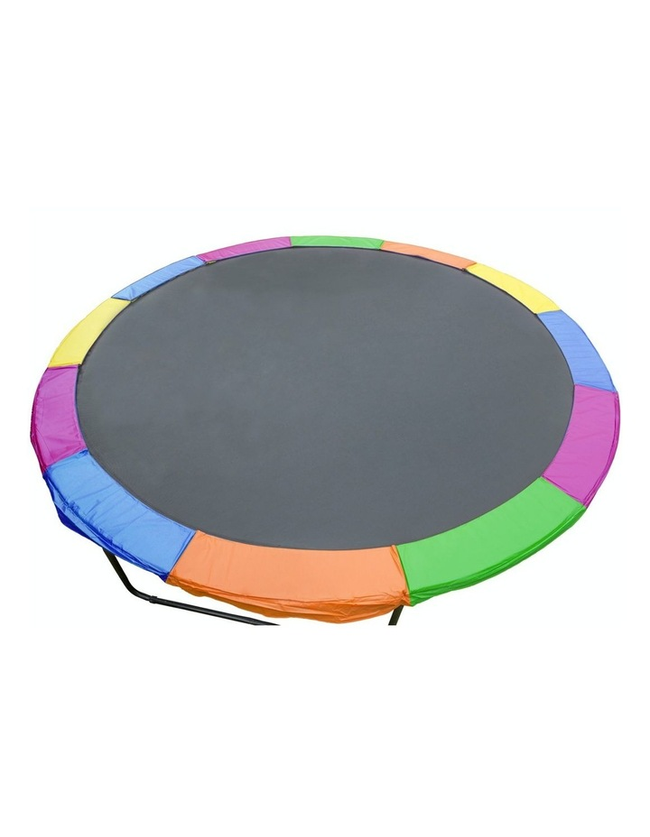 10ft Replacement Rainbow Reinforced Outdoor Round Trampoline Spring Pad Cover image 1