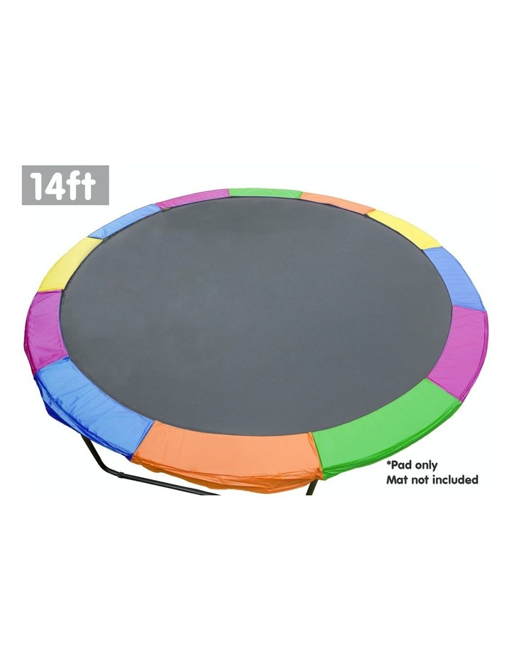 Replacement Trampoline Pad Reinforced Outdoor Round Spring Cover 14ft- Rainbow image 2