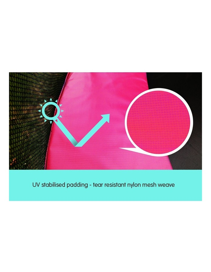 Pink 16ft Replacement Reinforced Outdoor Round Trampoline Spring Pad Cover image 4