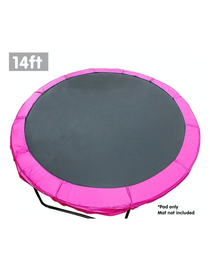 Pink 14ft Replacement Reinforced Outdoor Round Trampoline Spring Pad Cover image 2