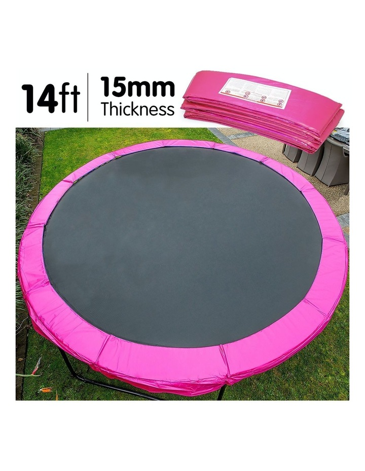 Pink 14ft Replacement Reinforced Outdoor Round Trampoline Spring Pad Cover image 3