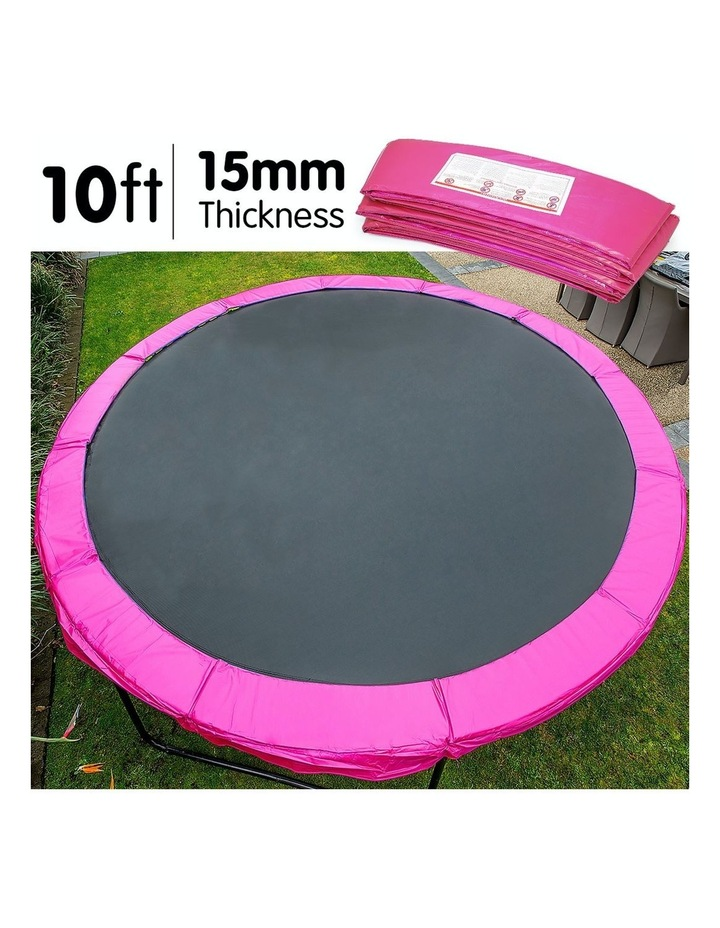 Pink 10ft Replacement Reinforced Outdoor Round Trampoline Spring Pad Cover image 3