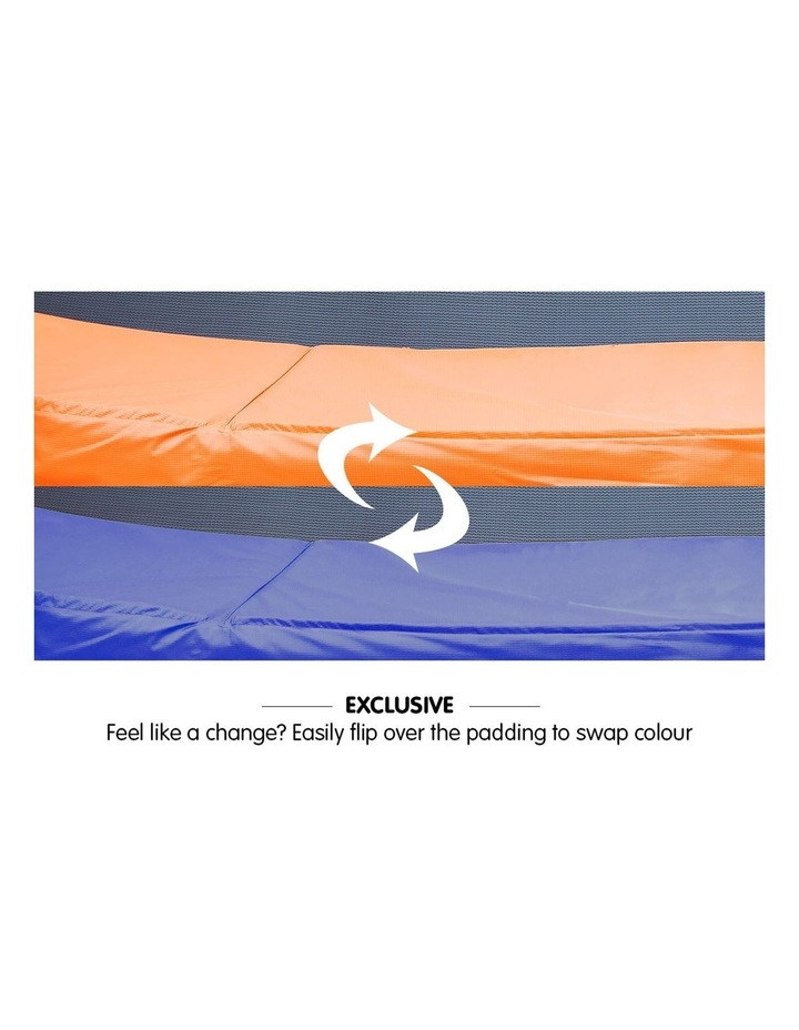 Replacement Trampoline Pad Reinforced Outdoor Round Spring Cover 8ft- Orange/Blue image 2