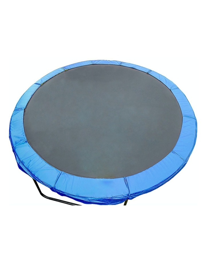 8ft Replacement Reinforced Outdoor Round Trampoline Safety Spring Pad Cover- Blue image 1