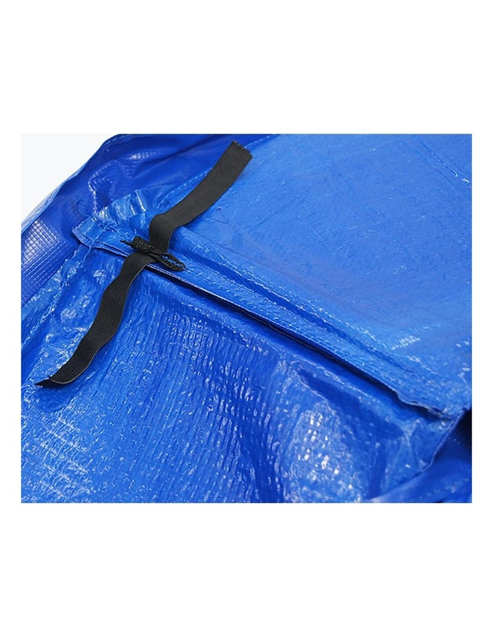 8ft Replacement Reinforced Outdoor Round Trampoline Safety Spring Pad Cover- Blue image 5