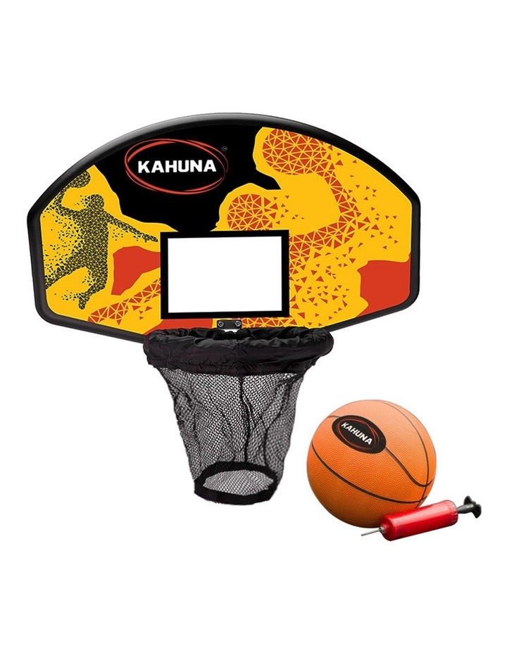 Trampoline Basketball Hoop Ring Backboard Pump Set Ball Kit image 1