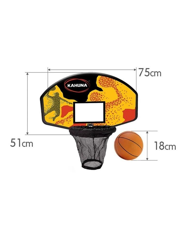 Trampoline Basketball Hoop Ring Backboard Pump Set Ball Kit image 2