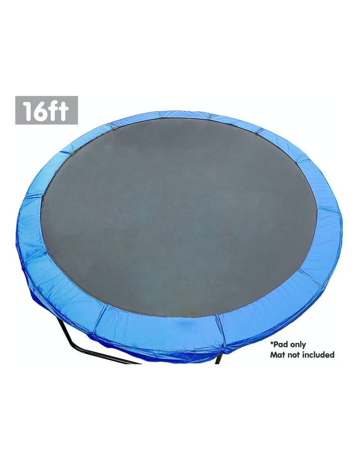16ft Replacement Outdoor Round Trampoline Safety Spring Pad Cover- Blue image 2