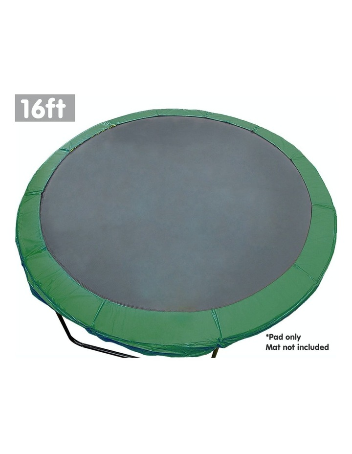 Green 16ft  Replacement Reinforced Outdoor Round Trampoline Spring Pad Cover image 2