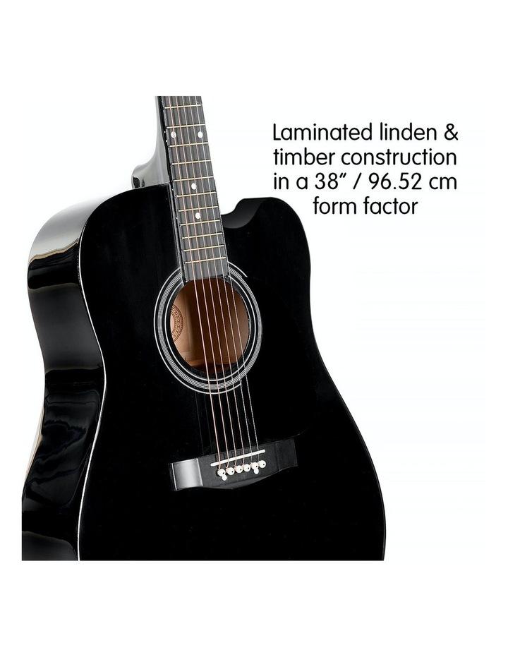 38in Pro Black Acoustic Guitar With Picks Tuner Steel String Bag image 2
