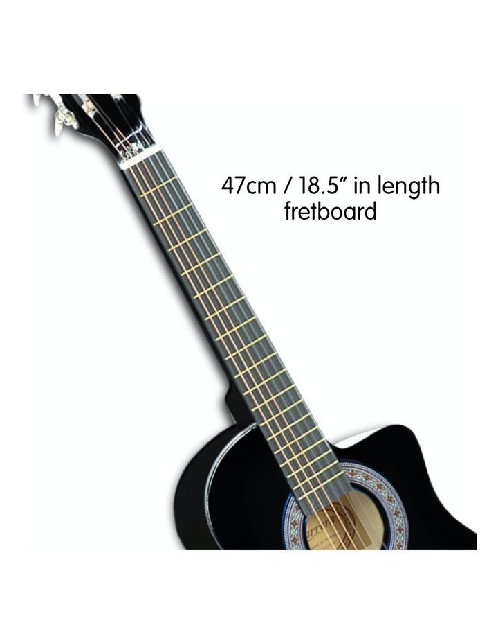 38in Pro Black Acoustic Guitar With Picks Tuner Steel String Bag image 3