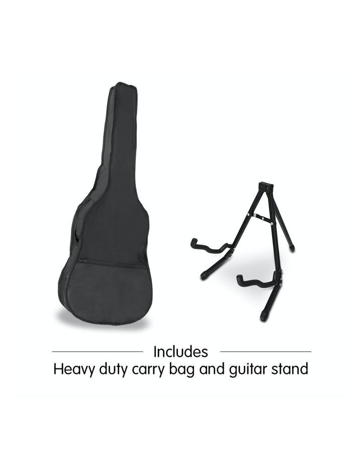 38in Pro Black Acoustic Guitar With Picks Tuner Steel String Bag image 5