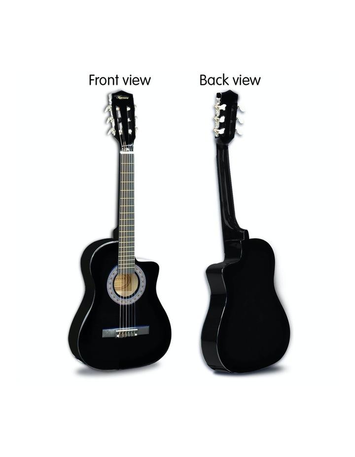 38in Pro Black Acoustic Guitar With Picks Tuner Steel String Bag image 6