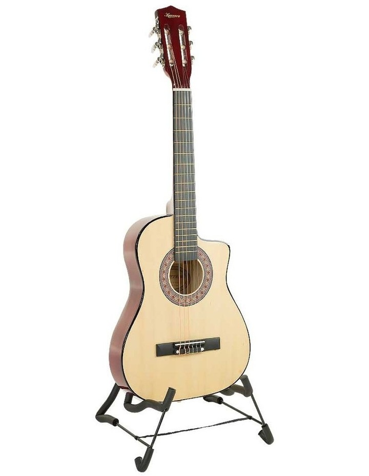 38in Pro Natural Cutaway Acoustic  Guitar With  Tuner  String Bag image 1