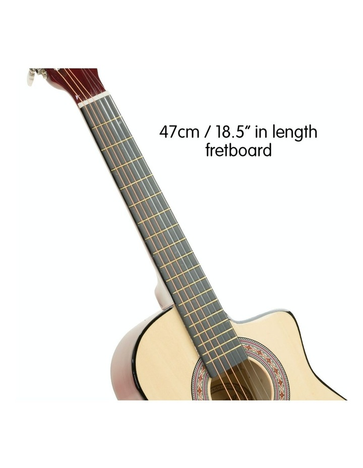 38in Pro Natural Cutaway Acoustic  Guitar With  Tuner  String Bag image 3