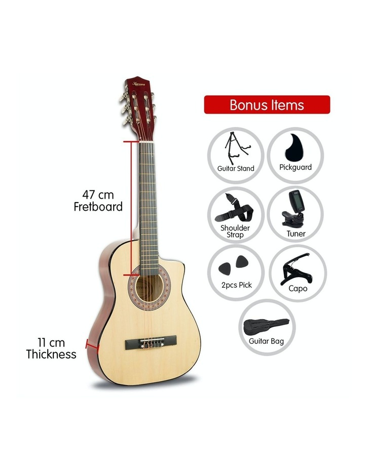 38in Pro Natural Cutaway Acoustic  Guitar With  Tuner  String Bag image 4