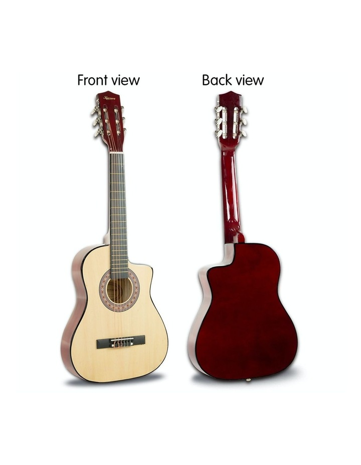 38in Pro Natural Cutaway Acoustic  Guitar With  Tuner  String Bag image 5