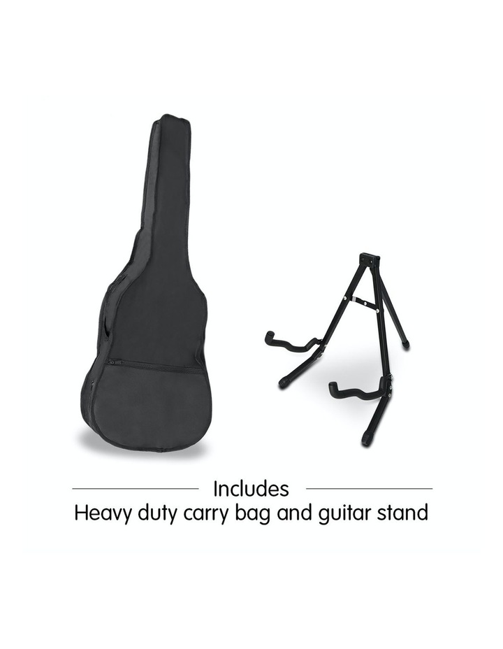 38in Pro Acoustic Guitar Picks Tuner Stand Strings Bag Capo Strap Red image 6