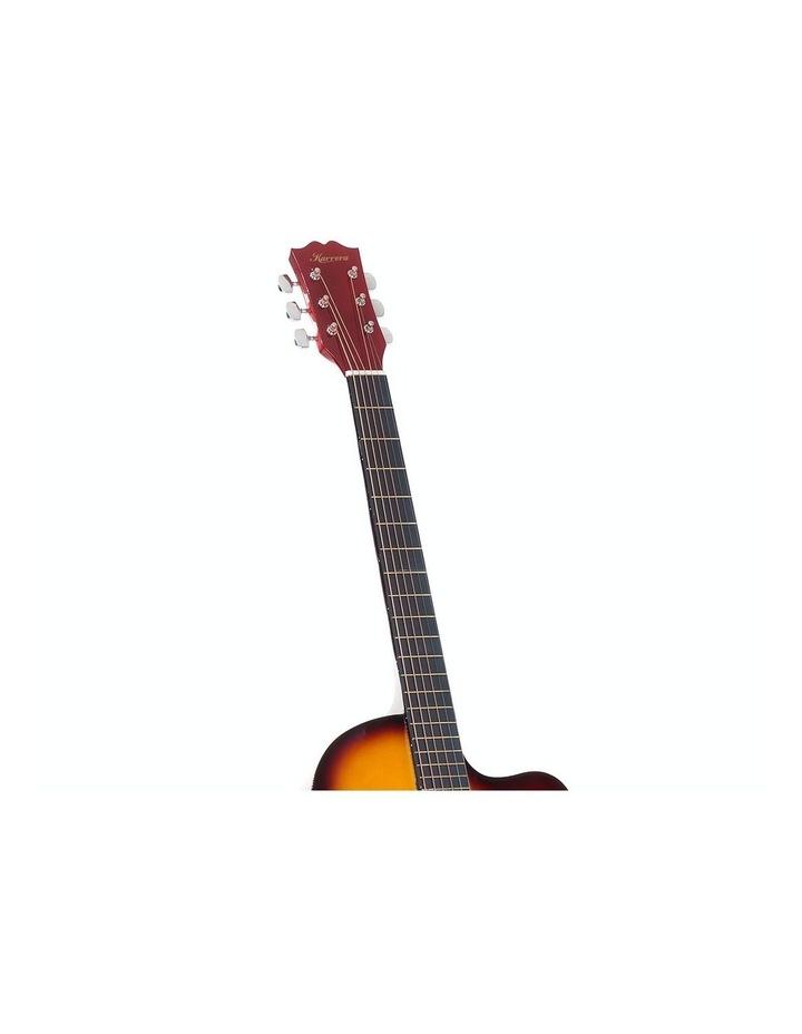 40in Acoustic Cutaway Guitar Bag Strings Picks Winder Strap Sun-burst image 4
