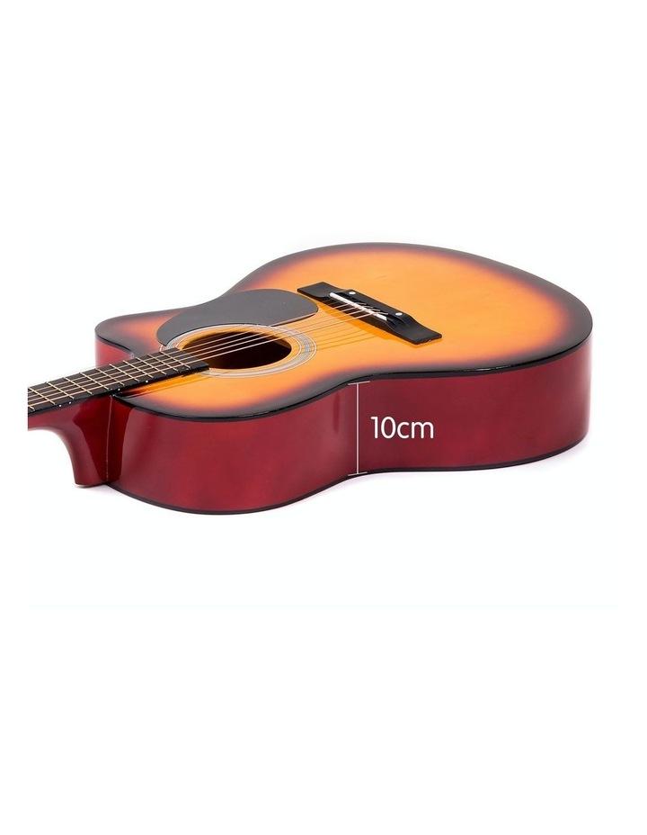 40in Acoustic Cutaway Guitar Bag Strings Picks Winder Strap Sun-burst image 5