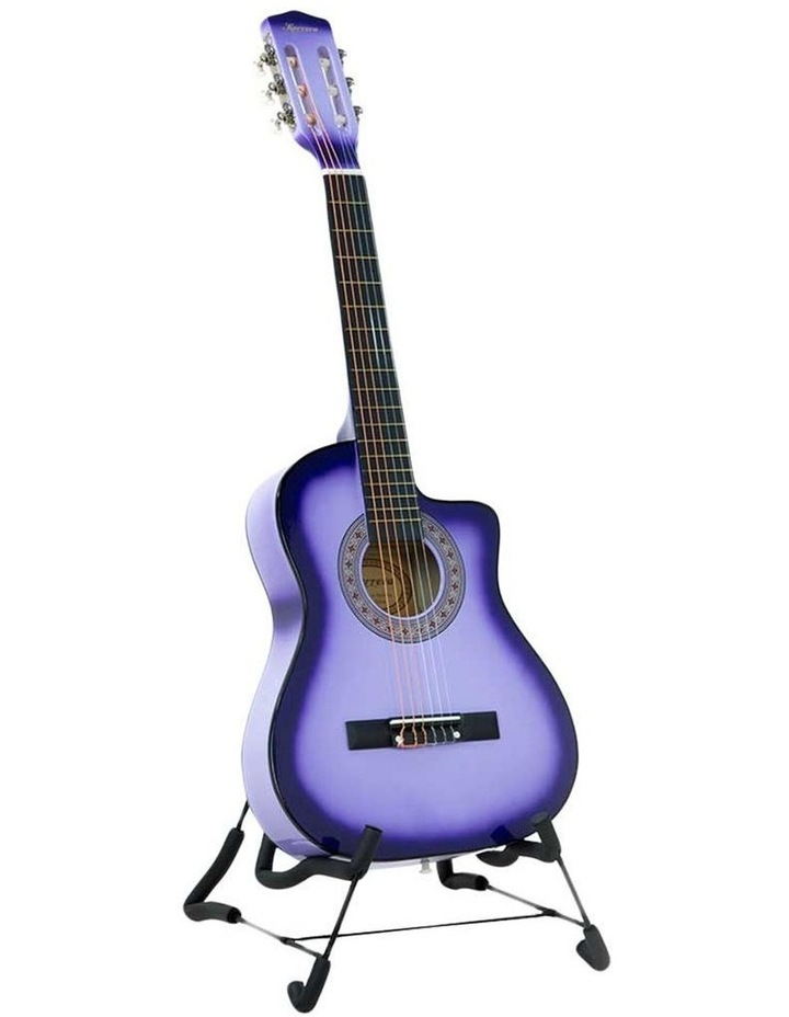 38in Purple Burst Acoustic Guitar With Pick Guard Steel String Bag image 1