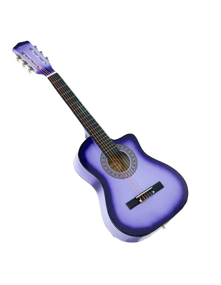 38in Purple Burst Acoustic Guitar With Pick Guard Steel String Bag image 2