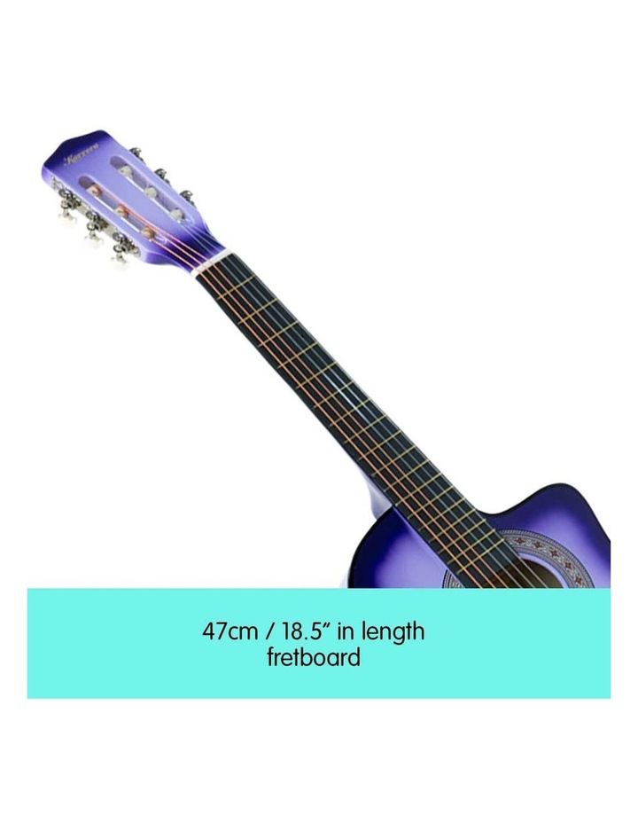 38in Purple Burst Acoustic Guitar With Pick Guard Steel String Bag image 3