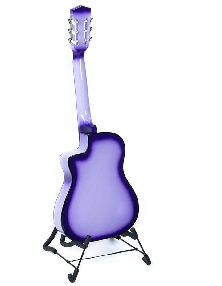 38in Purple Burst Acoustic Guitar With Pick Guard Steel String Bag image 6