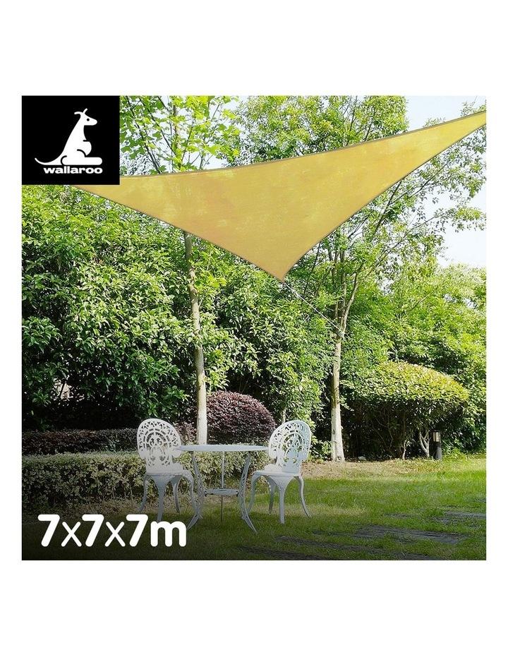 Triangle Shade Sail 7x7x7 - Sand image 2
