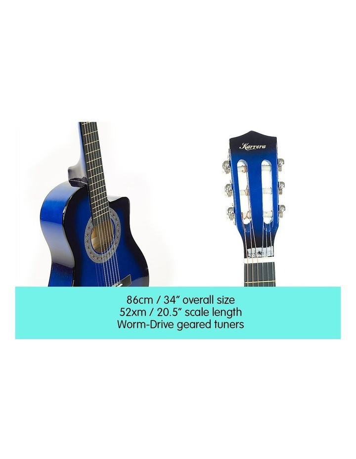 Blue Childrens Acoustic Guitar Ideal Kids Gift 1/2 Size image 3