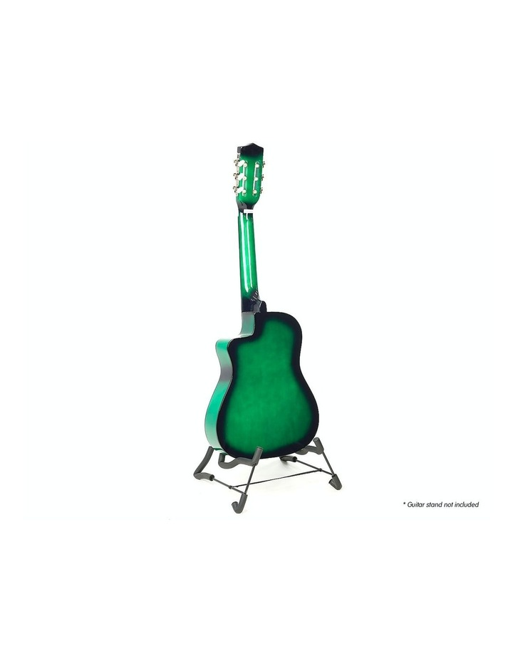 Childrens Acoustic Cutaway  Wooden Guitar Ideal Kids Gift 1/2 Size Green image 3