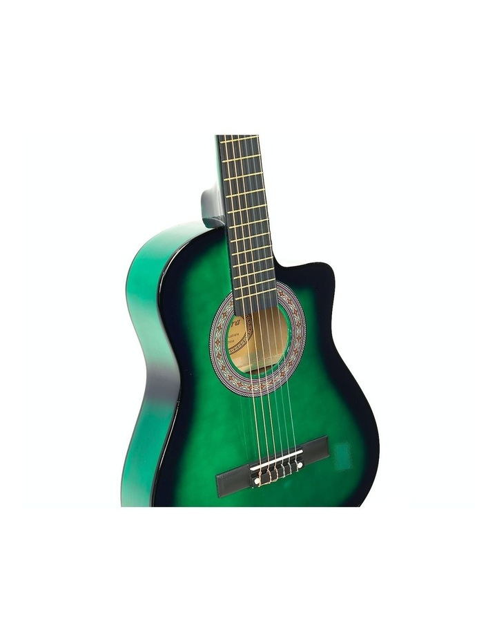 Childrens Acoustic Cutaway  Wooden Guitar Ideal Kids Gift 1/2 Size Green image 4