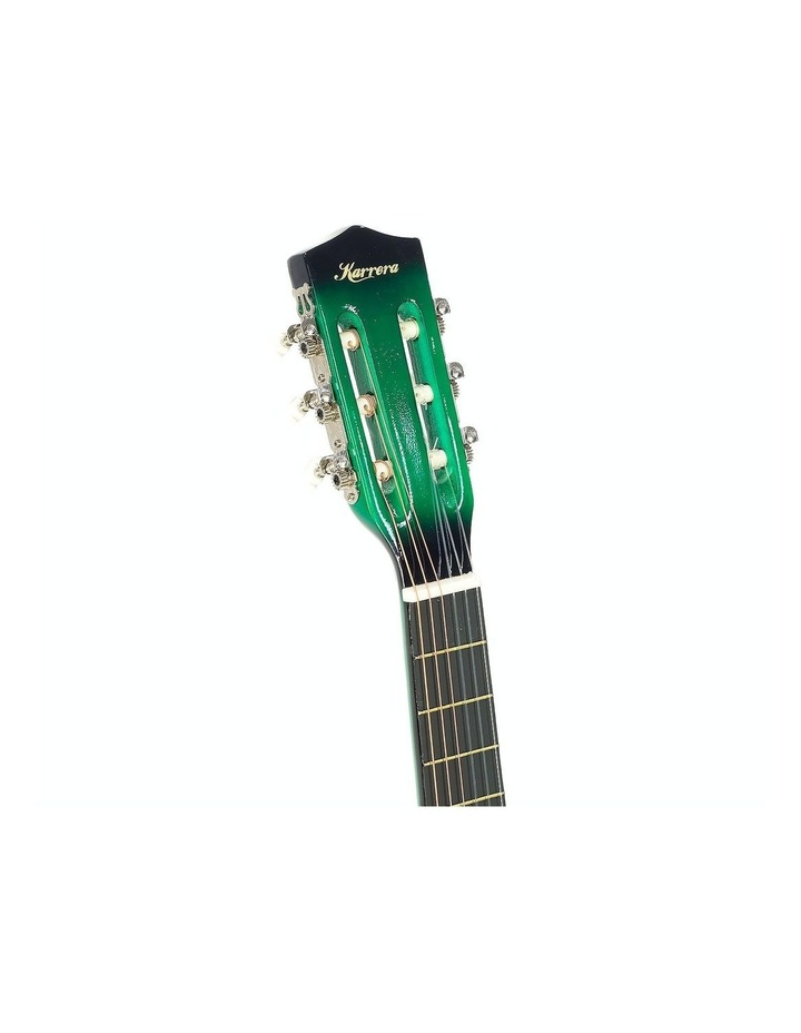 Childrens Acoustic Cutaway  Wooden Guitar Ideal Kids Gift 1/2 Size Green image 5